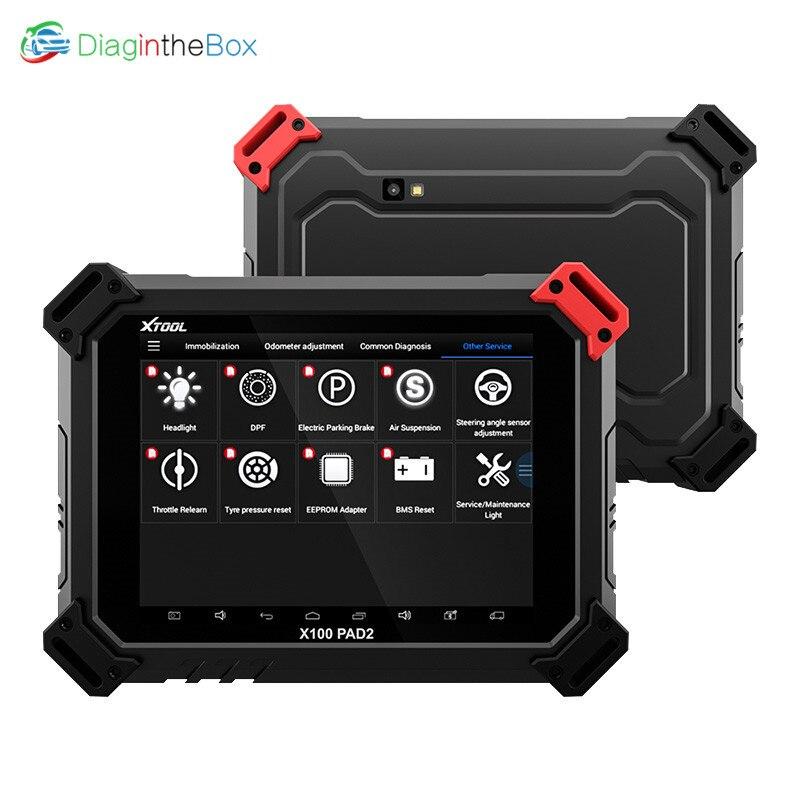 XTOOL X100 PAD2 OBD2 programmeur de clé automatique odomètre outil de Correction lecteur de Code outil de Diagnostic de voiture avec fonction spéciale