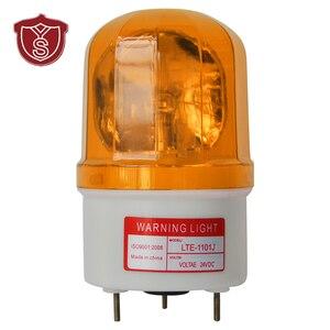 Luz de advertencia de LTE-1101J, bombillas de alarma rotativas, rojas y verdes, lámpara de emergencia Industrial para camión, baliza con zumbador, 90dB, 12V, 24V
