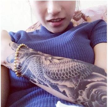 3D Waterproof Temporary Exotic Tattoo Stickers Sexy Oriental Carp Beauty Makeup Body Art
