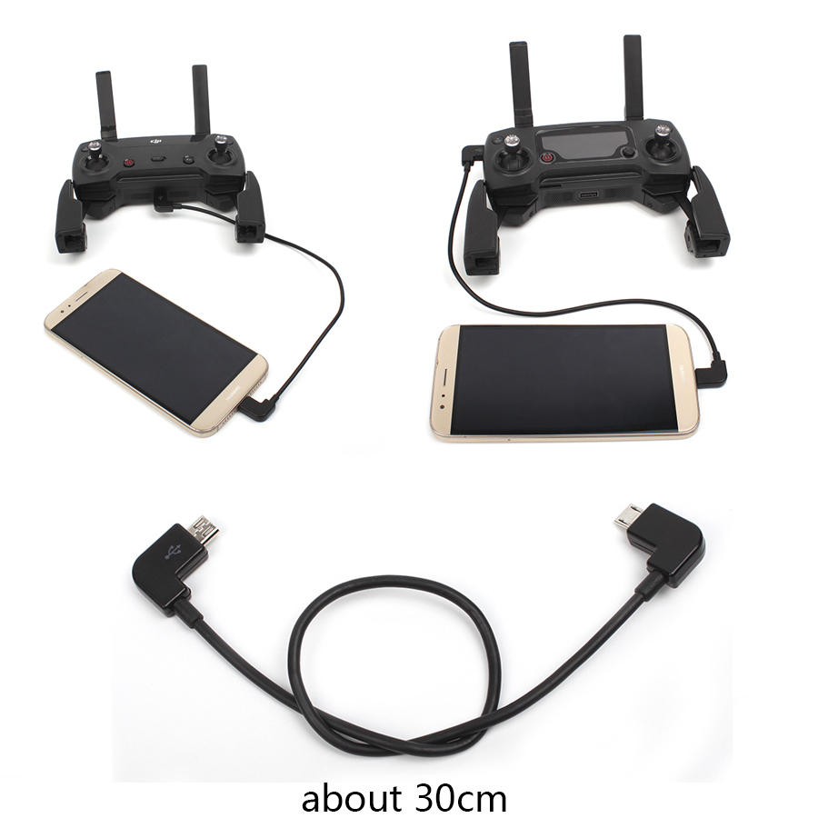 30CM OTG Data Cable Adapter For DJI Spark Mavic Pro Air 2 Zoom Mini Drone Connector Tablet Phone Type-C Micro-USB Hubsan Zino