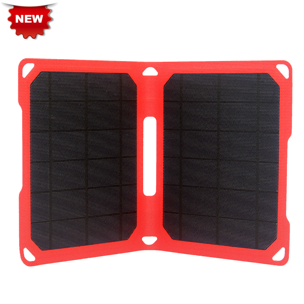 NEW! ETFE Mono Panel PowerGreen Dual USB Power Bank 14W Solar Charger for iPhone7/8NEW! ETFE Mono Panel PowerGreen Dual USB Power Bank 14W Solar Charger for iPhone7/8