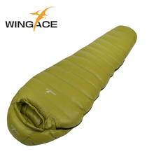 WINGACE Winter Sleeping Bag Adult Filling 4000g Duck Down Warm Mummy Outdoor Camping Bags uyku tulumu