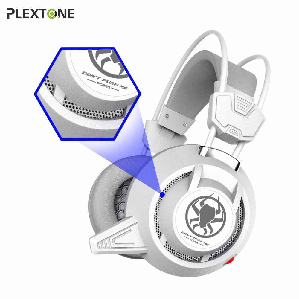 PLEXTONE Wired Gaming Headset Deep Bass Game Earphone Computer headphones with microphone led light headphones for computer pc 2017 hoco professional wired gaming headset bass stereo game earphone computer headphones with mic for phone computer pc ps4