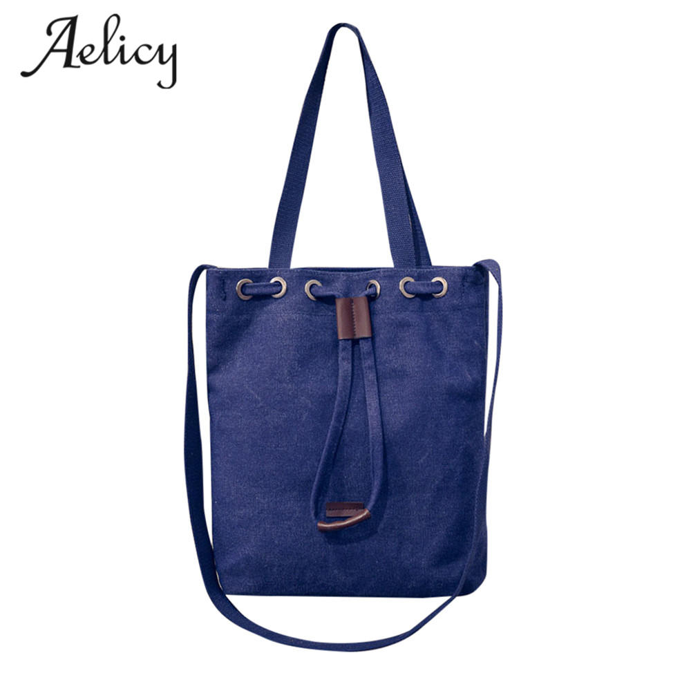 Aelicy Casual Canvas Bag Brand Women Shoulder Bags Female Messenger Bag Ladies luxury handbags women bags designer high quality luxury brand bag female korean version of the new female bag ms shoulder portable canvas bags women messenger bags