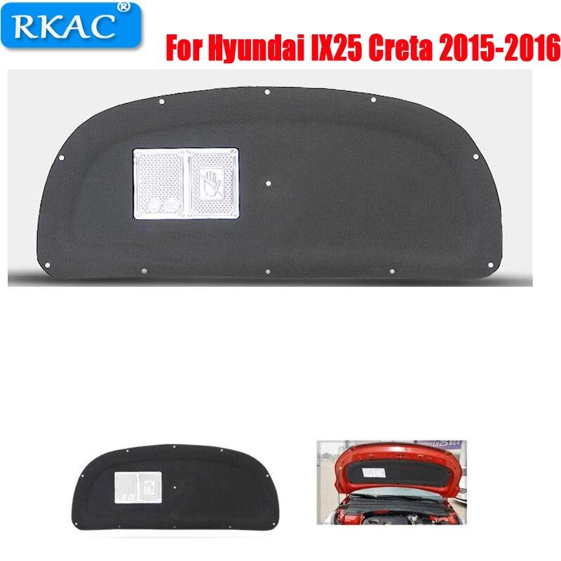 RKAC 1 pz Per Hyundai IX25 Creta 2015-2016 cofano Motore di cotone isolamento isolamento in cotone tronco coperchio fodera accessori