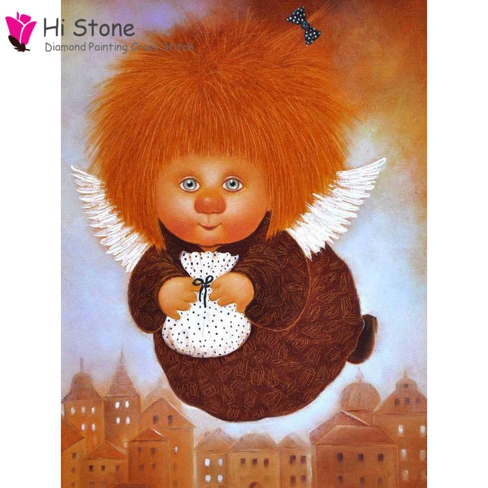Новый DIY алмазов картина ангел вышивки крестом Наборы Ангел для детей Подарки 5D полный квадрат дрель украшения дома алмазы embroidey