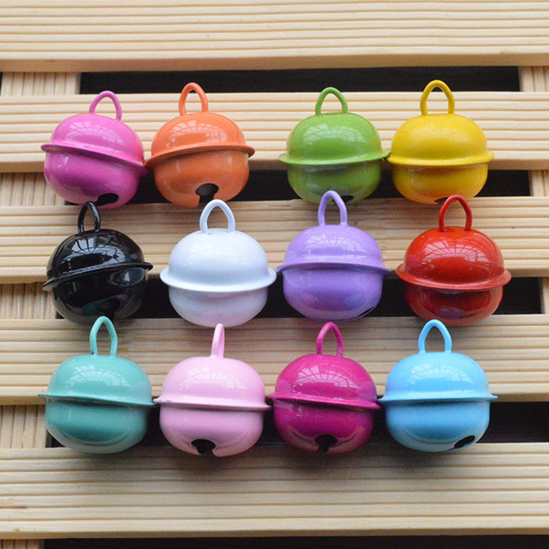 20pcs Colorful Iron Metal Jingle Bell Decorations Christmas Decoration Pet Pendants Key DIY Crafts Handmade Accessories 22mm