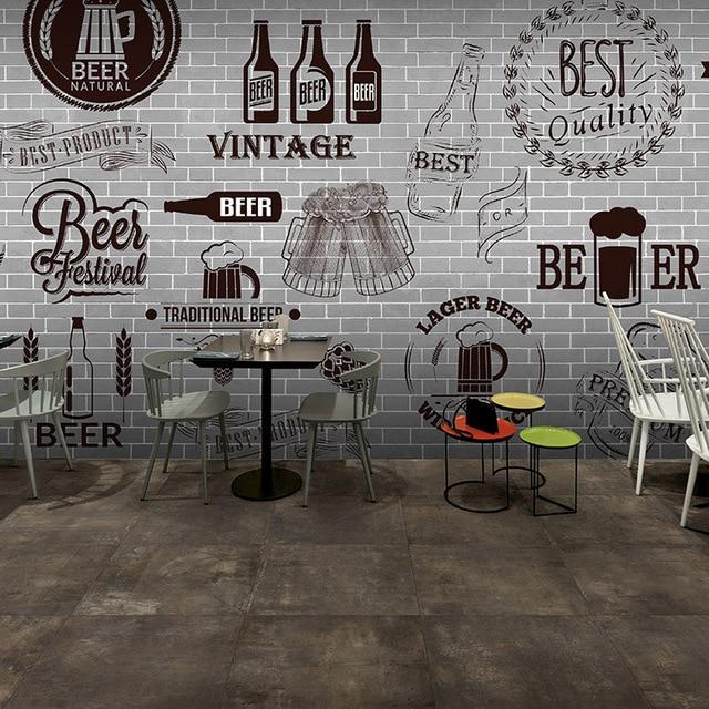 Faux Brick Wallpaper 3d Custom 3d Mural Gray Cement Black White Brick Wall Retro