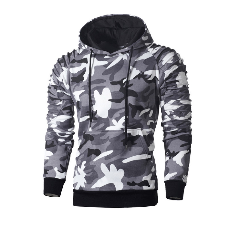 Laamei Camouflage Hoodies Men 2019 New Fashion Sweatshirt Male Camo Hoody Hip  Autumn Winter Military Hoodie Plus Size 3XL 3