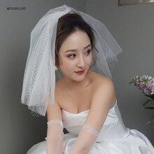 Мягкий тюль и жесткий чистый короткие мини фата плечо длина для подруги невесты свадьба женская аксессуары