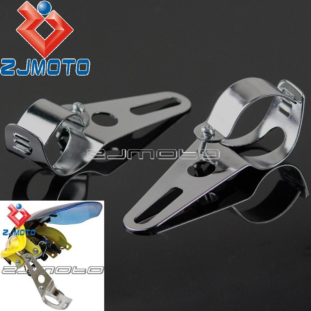 Motorcycle Universal Headlight Bracket Fork Tube Brackets 35-54mm Motorbike Headlamp Mount Holder Streetfighter Fairing farol moto street fighter