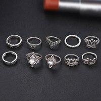 10pcs/Set Vintage Bohemian Ring Set (Less than 1$ each) 4