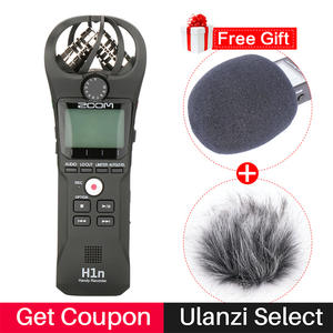 ZOOM H1N Pen Handy Audio Voice Recorder for Canon Nikon DSLR Camera w Boya BY-M1