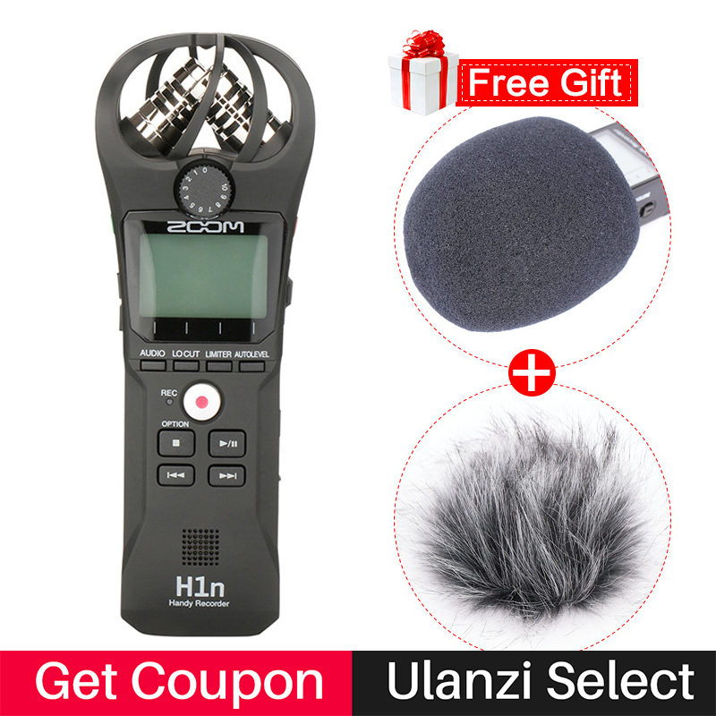 ZOOM H1N Stylo Pratique Audio Enregistreur Vocal Interview Vidéo Stéréo Microphone pour Canon Nikon DSLR Caméra w Boya BY-M1 Microfone