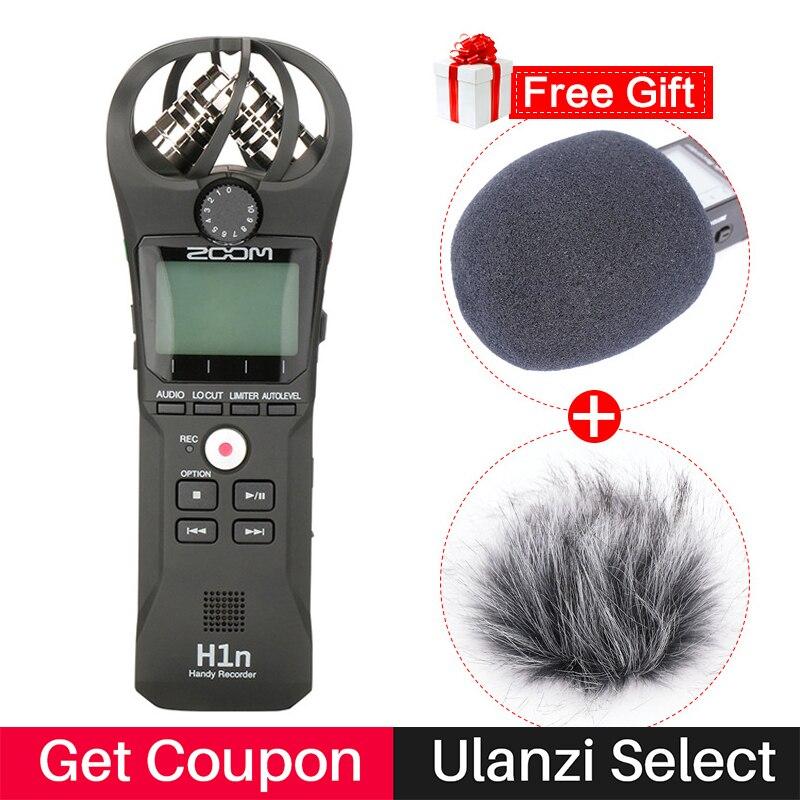 Zoom h1n caneta handy áudio gravador de voz entrevista vídeo microfone estéreo para canon nikon dslr câmera w boya BY-M1 microfone