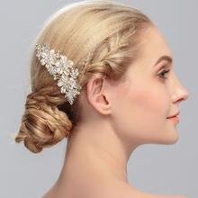 1 шт/лот свадебный гребень для волос с кристаллами из сплава