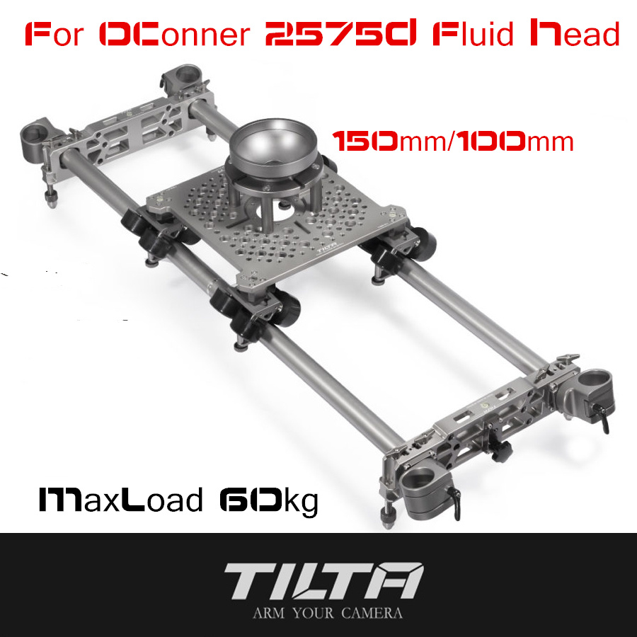 TILTA MAX TSS-01 Professional Slider System Camera Track Dolly Slider With 100mm/150mm Bowl For OConnor 2575D Tripod Fluid Head