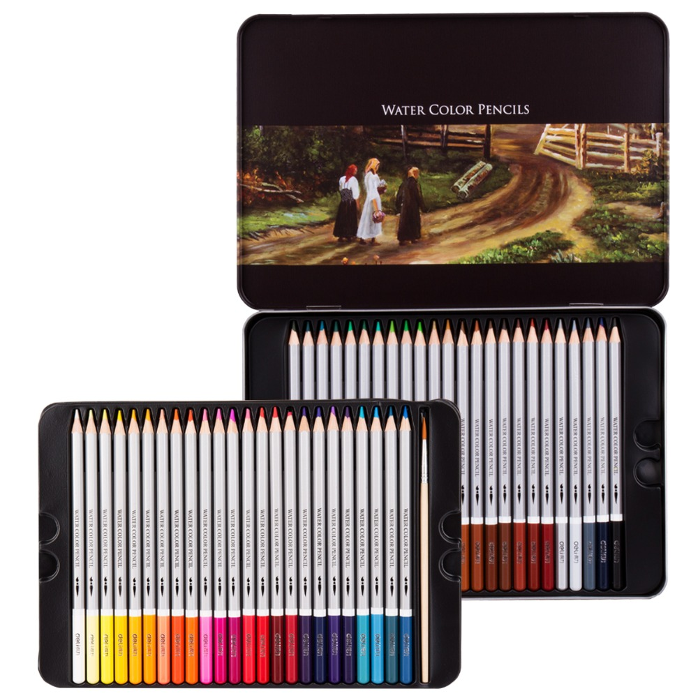 36 48 72 color water soluble color pencil secret art drawing coloring pen deli cute lovely color pencil drawing tutorial art book