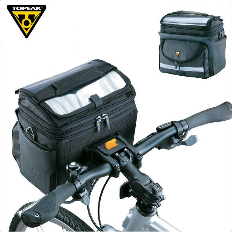 6570ba42c8d Topeak TT3022 TT3021 TourGuide Handlebar Bag for Bicycle Camera Bag Bike  Front Tube Pannier Mountain Bike
