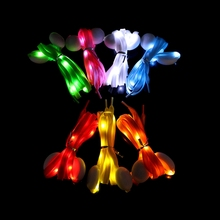 LED Glowing Shoelaces Multicolor Flashing Luminous Outdoor Party Kit Shoestrings