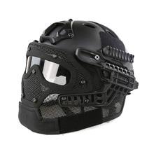 Nowy System G4/Zestaw PJ Kaski Kask Z Gogle wielofunkcyjny Tactical Paintball Z Ogólnej Ochrony Szkła Twarzy maska