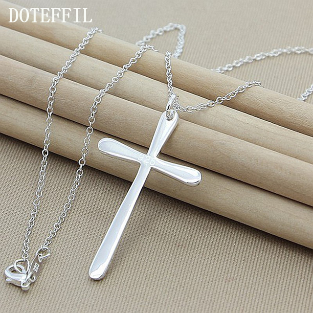 Hot 925 sterling silver fashion jewelry pendant necklace 925 hot 925 sterling silver fashion jewelry pendant necklace 925 jewelry silver necklace long cross pendant aloadofball Images