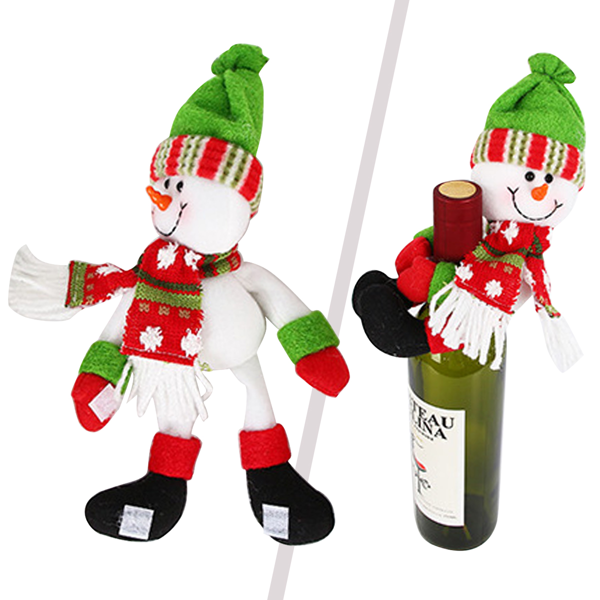 Home & Garden Snny New 1pcs Table Decorations Wine Bottle Cover Ornament Wedding Table Decorations Novelty Decoration Snowman Santa Clause L