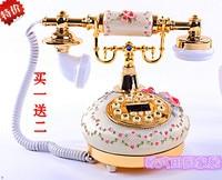 Telephone landline telephone vintage antique carved antique garden high grade old cable special offer