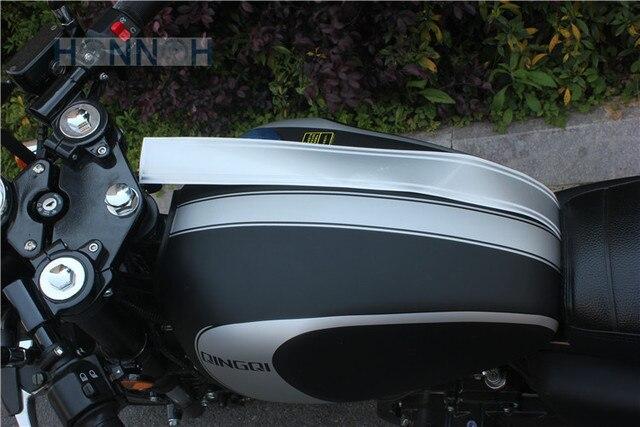 SILVER Piece Motorcycle DIY Tank Fairing Cowl Vinyl Stripe - Vinyl stripes for motorcyclespopular motorcycle tank stripesbuy cheap motorcycle tank stripes
