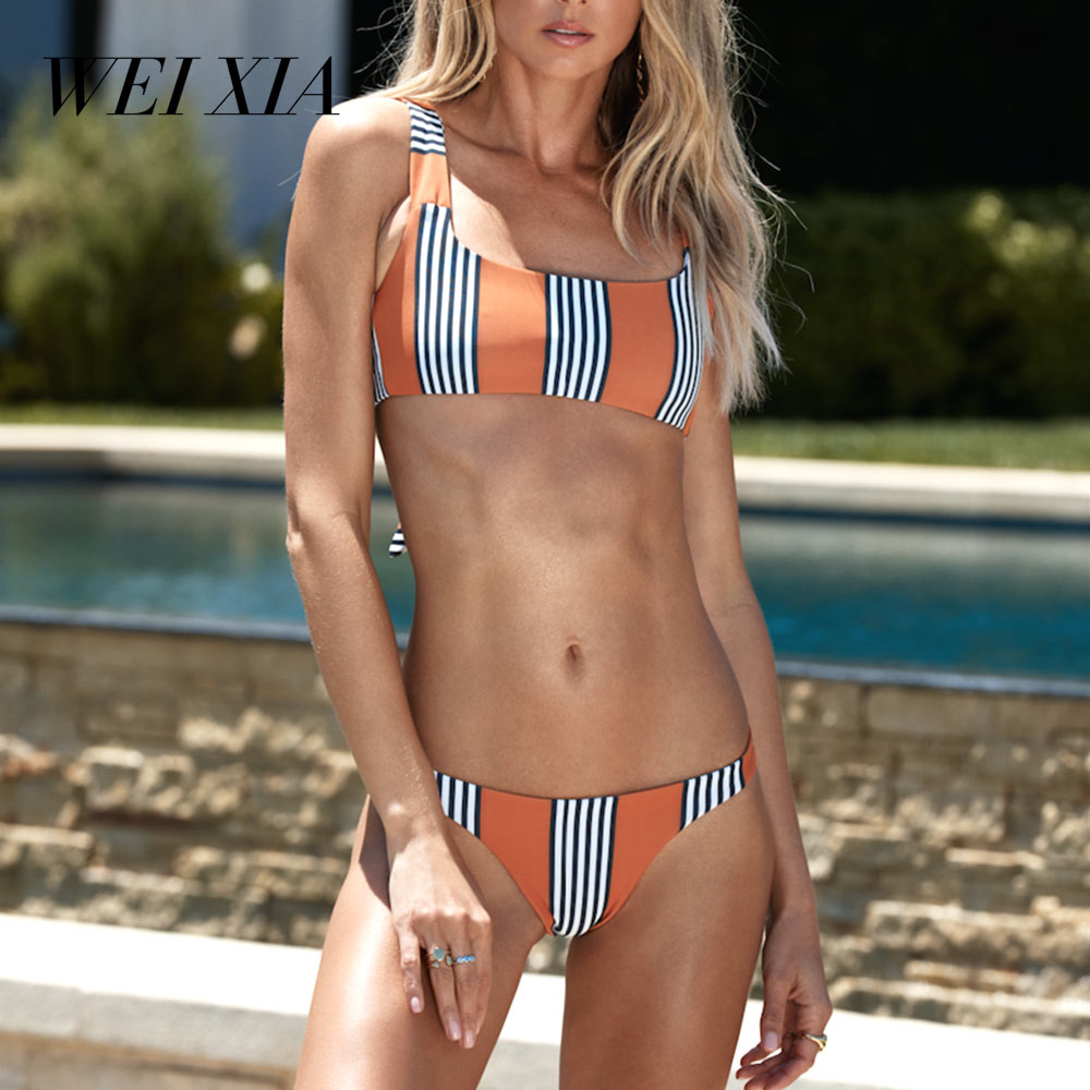 WEIXIA 2018 Sexy Beach Swimwear Women Push Up WX1637 Bikinis Beautiful Brazilian Swimsuit Summer Beach Wear Bikini Set Push Up