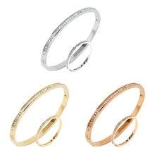 Женские круглые браслеты Обручи из нержавеющей стали