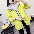 free shipping 2017 Autumn new coat female student class clothes tide loose windbreaker women 's hooded college wind XY2011