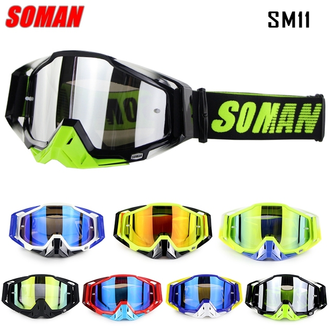 Hot Sale 100% Original Soman Brand Motocross Glasses ATV Casque Motorcycle Goggles Racing Moto Bike Sunglasses Bicycle Eyewear