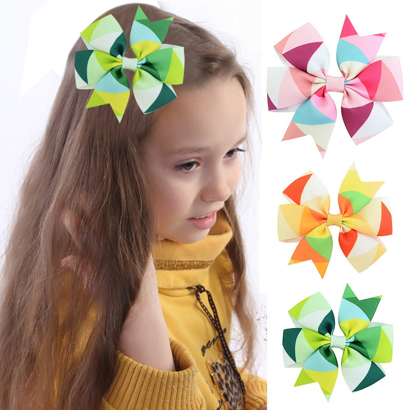 Новое поступление мода 13 видов цветов для девочек с большим бантом заколки Симпатичные ленты Популярные Заколки для волос