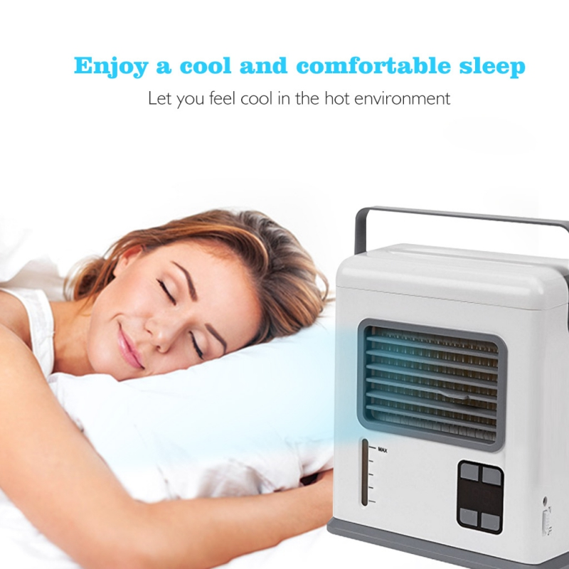 Portable Digital Display Cooling Fan Air Office Sleeping Conditioner Cooler Portable USB Purification Conditioner Humidifier Fan