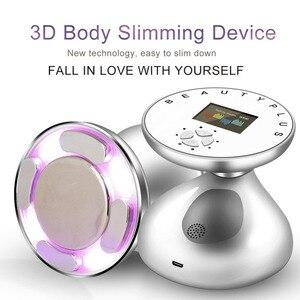Image 2 - RF LED ultradźwiękowy wyszczuplający masażer do ciała Lifting skóry odmłodzenie spalacz tłuszczu usuwanie Anti Cellulite odchudzanie narzędzie do dokręcania