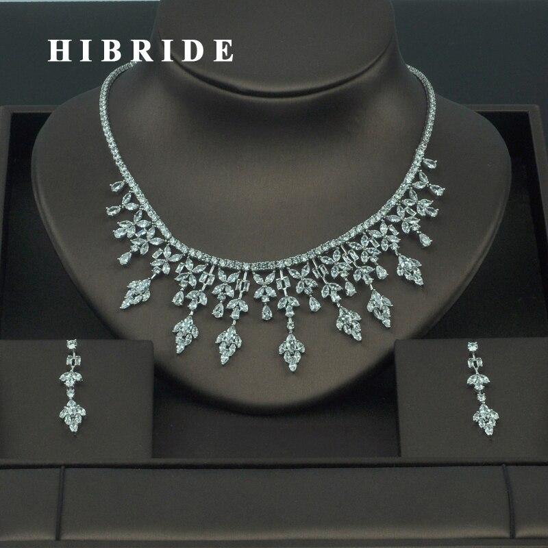 HIBRIDE High Quality Rhinestone Cubic Zirconia India font b Jewelry b font Sets For Women Bridal