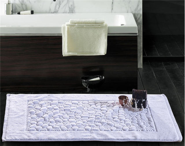 Thickness Jacquard Floor Towel100 Cotton 5 Star Hotel