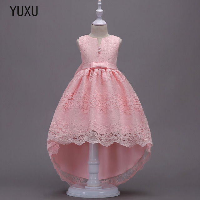 934c5826e56b0 2018 new Long tail Lace Ball Gown Flower Girls Dresses Simple Kids Wedding  Christmas Party Dress First Communion Dresses big bow-in Dresses from  Mother ...