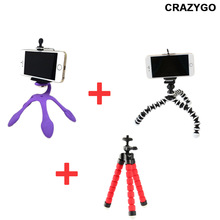 Gekkopod Flexible Stand+ Mini Flexible Sponge Octopus +Tripod Stand for Camera iPhone 6 6S Samsung xiaomi Android Phone
