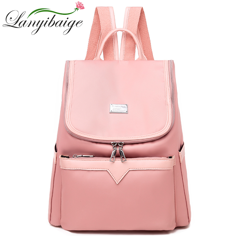 LANYIBAIGE 2019 Large Capacity Backpack Women Preppy School Bags For Teenagers Female Oxford Travel Bags Girls Backpack Mochilas