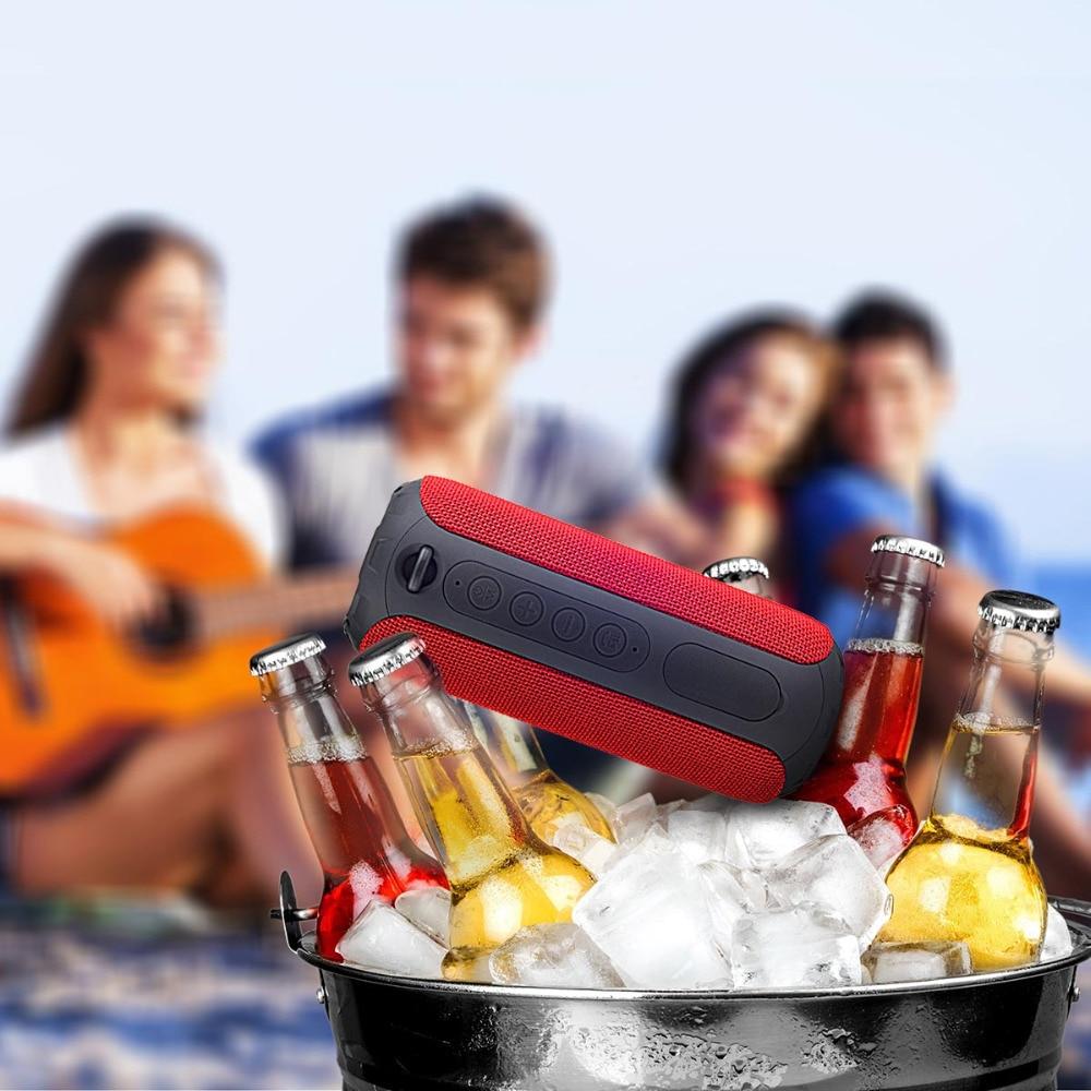 Altavoz inalámbrico portátil Rojo Impermeable IPX6 Al aire libre - Audio y video portátil - foto 5