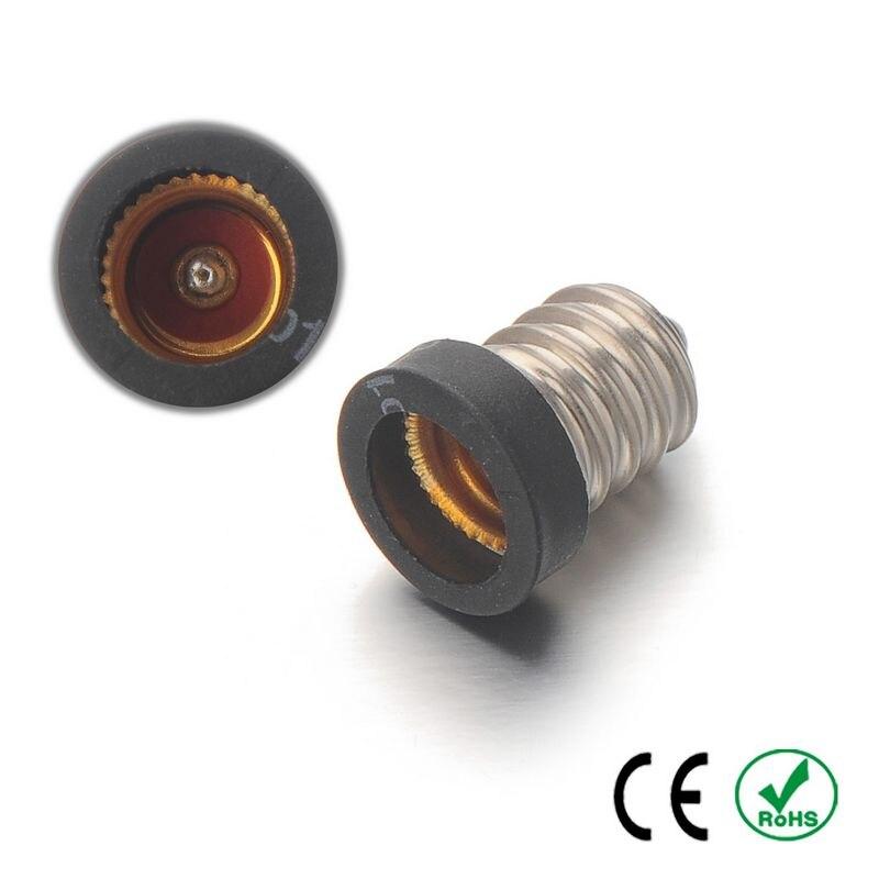 100pcs E17 to E12 Adapter Lamp Holder Converter Lamp Base Socket Fireproof PET Copper LED Light Bulb Holder Extender Plug
