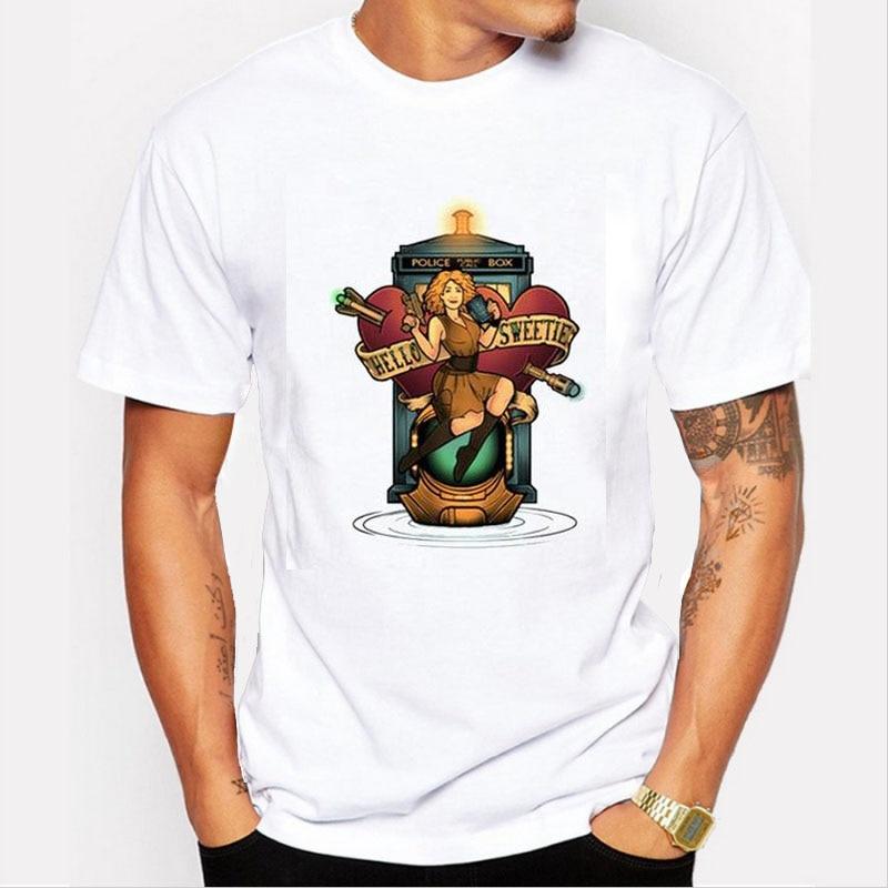 Pottis New Fashion Men Doctor Who T Shirt Tecknad film Dr Vem Printed - Herrkläder - Foto 2