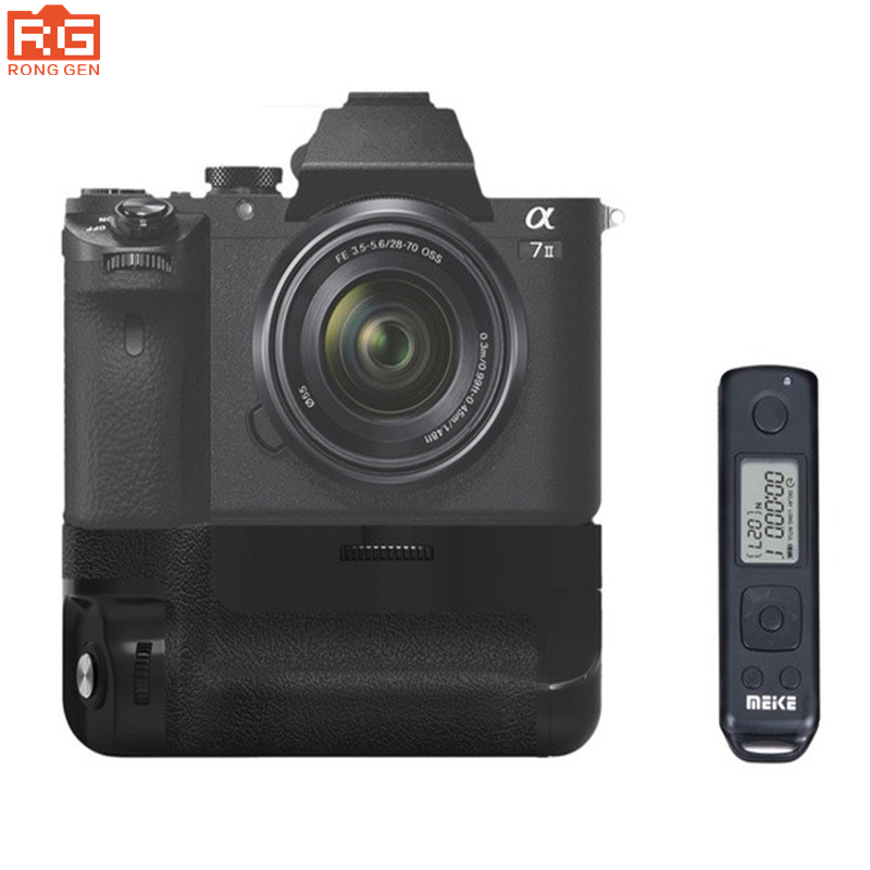 Meike MK-A7II Pro Built-in 2.4g Wireless Control Battery Grip for Sony A7 II A7II A7SII A7MII A7RII As Sony VG-C2EM meike mk dr750 built in 2 4g wireless control battery grip for nikon d750 as mb d16 wireless remote
