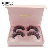 LANJINGLIN natural long false eyelashes full strip lashes makeup 3d mink volume fake eye soft