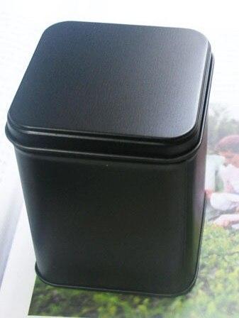 7*7*9.3cm Black Square tea tin box jewelry box storage box food case
