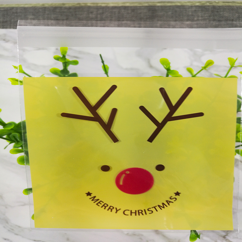 Funny Christmas Candy self adhesive Bags Food Grade OPP Party Supplies Cookies Bags For Birthday Wedding Decoration gift favors