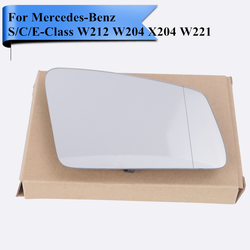Right Side Car Exterior Heated Door Mirror Glass with Blind Line For Mercedes Benz S / C / E Class W212 W204 X204 W221 #W117 R