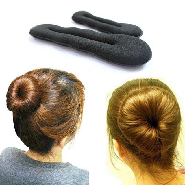 1 Stücke Haarbänder Magie Schaum Schwamm Haar Platte Brötchen